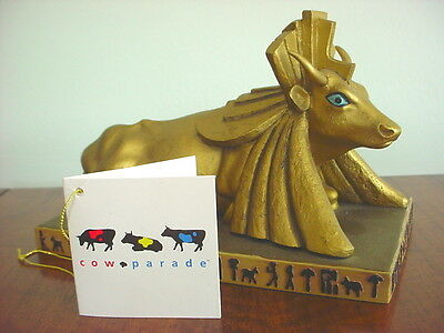 2001 COW PARADE Figurine EGYPTIAN PRINCESS Retired #9140 Collectible
