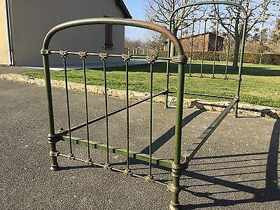 Antique Vintage French Single Iron Bed Frame