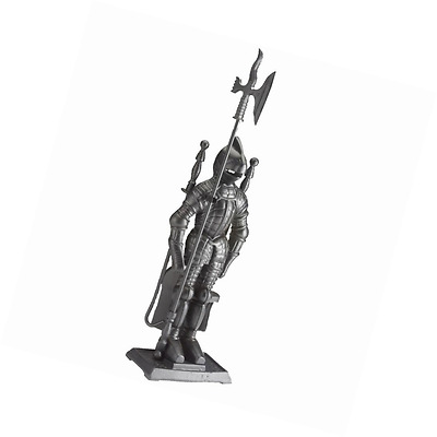 Fire Vida Knight Soldier Fireplace Companion Set, Metal, Piece of 5