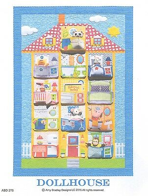 DOLLHOUSE POCKET QUILT QUILTING PATTERN, From Amy Bradley Designs NEW
