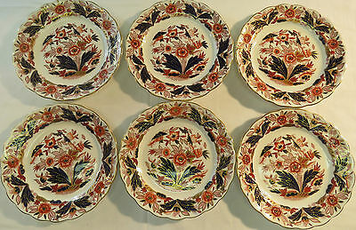 Antique Booths DOVEDALE Plates Set 6 dessert side pie plates A8044 Imari