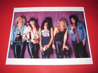 GUNS N' ROSES SLASH AXL ROSE 10x8 inch lab-printed photo P/8351