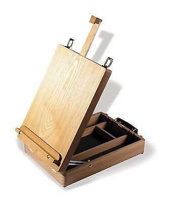 Reeves Cambridge Wooden Easel Fold Away Travel Table Painting Drawing Store New