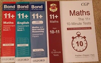 Bond and CGP 11+ Assessment/ Practise Papers- 4 books