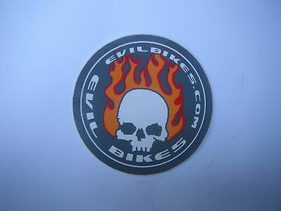 Evil Bikes Bicycle Bike Decal Sticker Skull and Flames Original Free Shipping!!