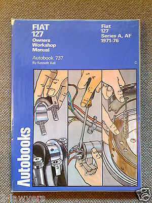 AUTOBOOKS OWNERS WORKSHOP MANUAL * FIAT 127 Series A & AF 1971 - 1976  903cc