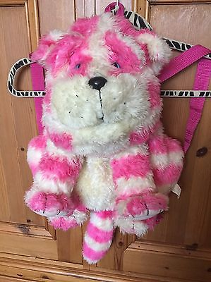 """Bagpuss Soft Plush toy Bag Backpack Novelty Cat Pink Striped 20"""" by golden bear"""