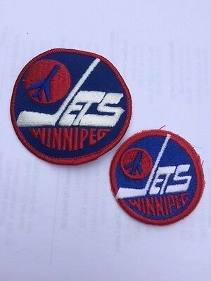 2 Winnipeg Jets Retro Vintage Old Scool Hockey Patches Patch Not Remade!