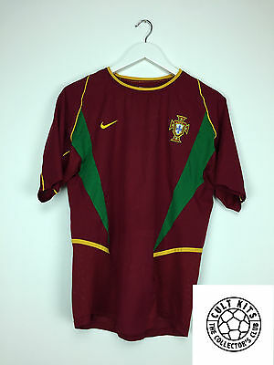 Retro PORTUGAL 02/04 Home Football Shirt (S) Soccer Jersey World Cup