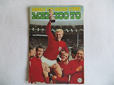 World Cup Soccer Stars Mexico 70 Football Sticker Album Complete