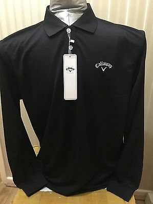 """*SALE* Mens Callaway  Golf Long Sleeve Polo Shirt Size Large 44"""" Chest L"""