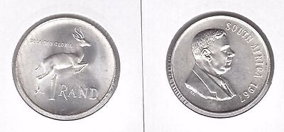 South Suid Africa – Silver 1 Rand Unc Coin 1967 Year Km#72.1 Verwoerd