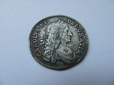 Shilling Solid Silver Charles II Second 11 1663