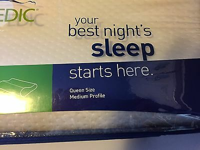 tempurpedic neck pillow medium profile queen size new in a box ready to ship