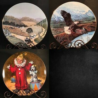 Grandma Moses Memories of America Plate Collection VTG ANTIQUE