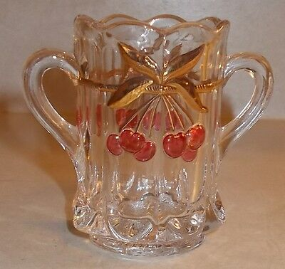 Mosser / Northwood Cherry Cable Glass Toothpick Holder EX COND!