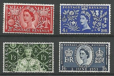 1953 Coronation Set of 4 Very Fine Used