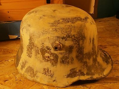 RARE ORIGINAL WW1 WW2 GERMAN M18 HELMET WITH LINER from the ground