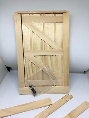 1:12 Scale Dolls House Miniature wooden barn style door