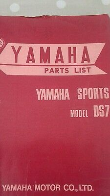 Yamaha  1970 Ds7 Sports  Sp Parts List Manual Catalogue
