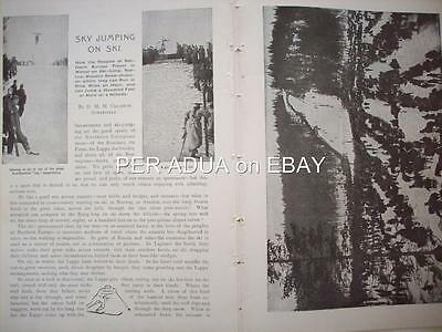 1903 SKI JUMPING& Running by Crichton Somerville : magazine article qn