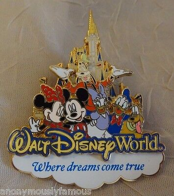 2007  WDW - Where Dreams Come True (Storybook Logo) 3D Pin 50100 Castle