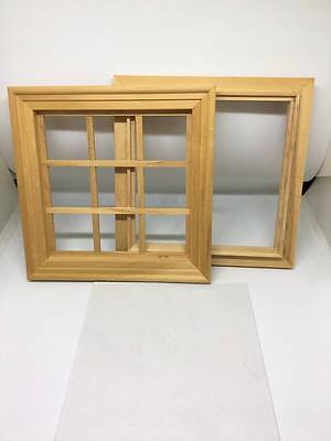 1:12 Scale Dolls House Miniature square wooden window