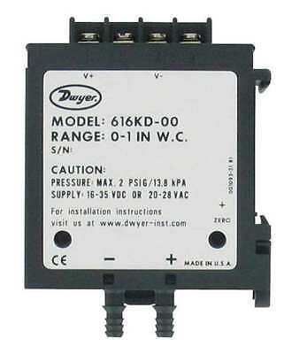 DP Transmitter,4-20mA Out DWYER INSTRUMENTS 616KD-04