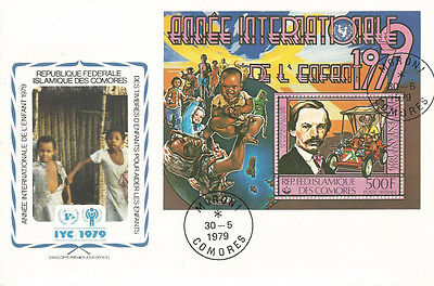 FDC International year of the Child COMOROS 1979