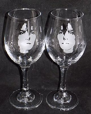 "New Etched ""MARC BOLAN"" Large Wine Glass - Buy 1 or 2 - Can Be Gift Boxed"
