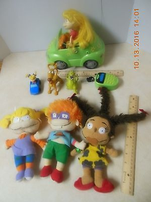 RUGRATS Angelica CARs Remote + Chucky Susie plush dolls Spike Reptar Figure lot