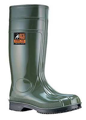 Size 9 Boots, Unisex, Green, Steel Toe, Shoes For Crews