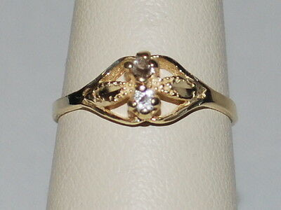 10K Gold ring with diamonds