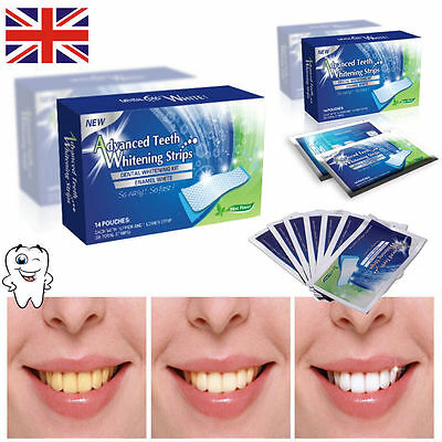 56 Advanced Teeth Whitening Strips Professional White Strips Tooth Bleaching Kit