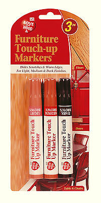 3X Furniture Touch Up Pen Marker Remove Marks Scratches Laminate Wood Floor Door