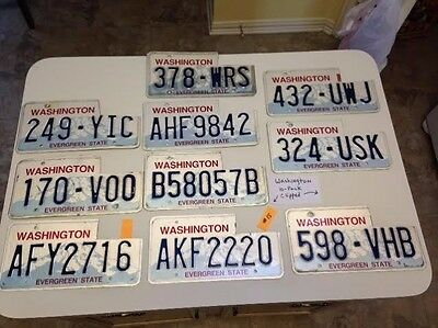 10 Washington license plate lot for collecting / craft lot clipped #15 Embossed