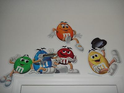 Complete Set m&m's Character Signs / Store Display ** Very Rare ** New **