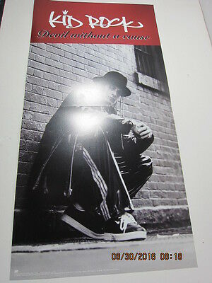 """KID ROCK Devil Without A Cause 24x12"""" 2 side Record Store Promo Poster Excellent"""