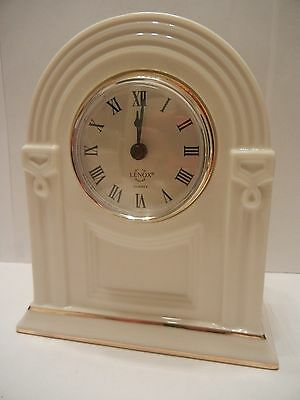 Lenox Timely Traditions Gentry Mantel Clock Gold Accents