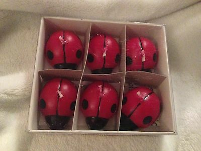 New In Box Floating Adorable Lady Bug Candles Scentfree