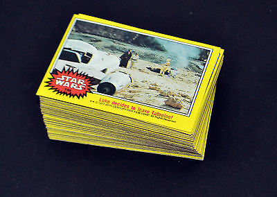 1977 Topps Star Wars Trading Cards Series 3 Yellow Near Mint 66 Cards Complete