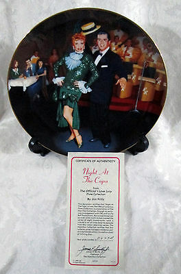 """I LOVE LUCY ''Night At The Copa"""" 1991 COLLECTIBLE PLATE BY HAMILTON & JIM KRITZ"""