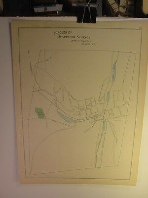 1893 Map of the Borough of Stafford Springs - Town of Stafford, Tolland CT