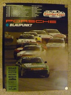 1988 Porsche 944 Turbo Cup Blaupunkt Showroom Stock Showroom Poster RARE Awesome