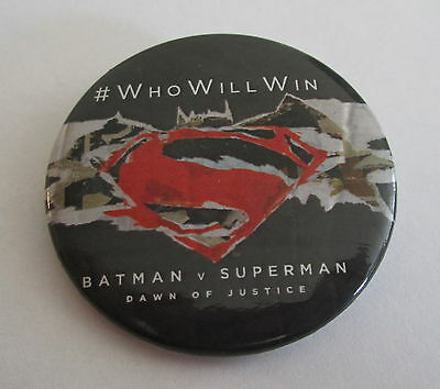 Batman V Superman Movie Promo Pin Button Badge Toronto Comic Con 2016