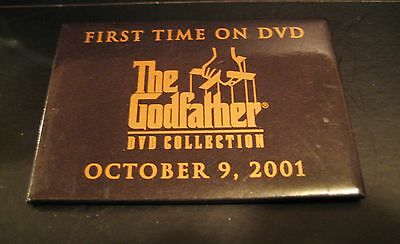The Godfather DVD Collection Promo Pin Button Badge