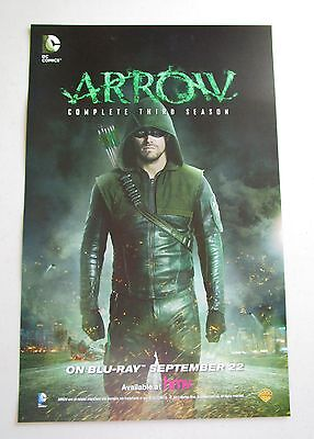 Arrow / The Flash TV Show Promo Poster Fan Expo Comic Con 2015 11 x 17