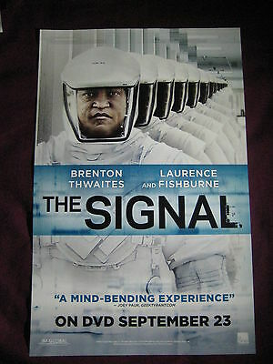The Signal Movie Promo Poster Fan Expo Comic Con 2014 Laurence Fishburne