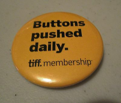 TIFF Membership Lapel Pin Button Badge Toronto International Film Festival