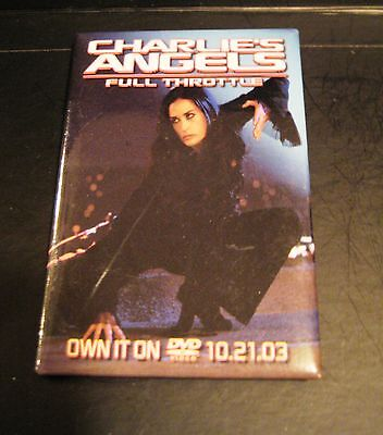 Charlies Angels Movie Promo Pin Button Badge Deemmi Moore